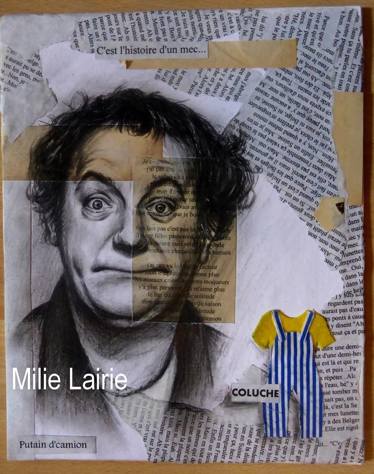 Coluche by Milie